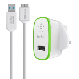 Belkin Home Charger with USB 3.0 Micro-B Cable 10W (F8M865uk03) - White