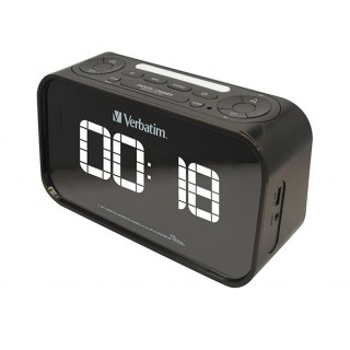 "Verbatim - Radio Clock l 1.8"" white LED Display l Dual Alarm"