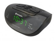 "Verbatim - Radio Clock l  0.6"" Green LED Display l  Dual Alarm"