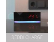 BEDDI CHARGE  Alarm Clock with USB Charging Ports and Mood light